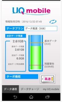 UQモバイルアプリ
